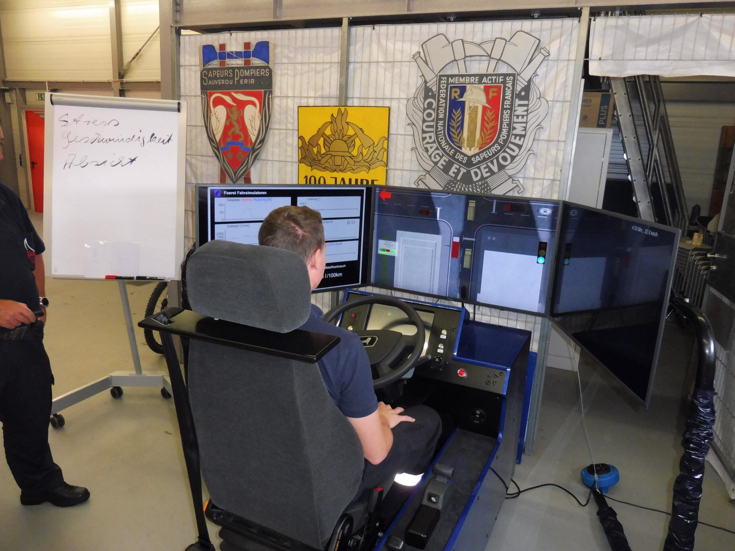 Auswertung einer Alarmfahrt im Simulator